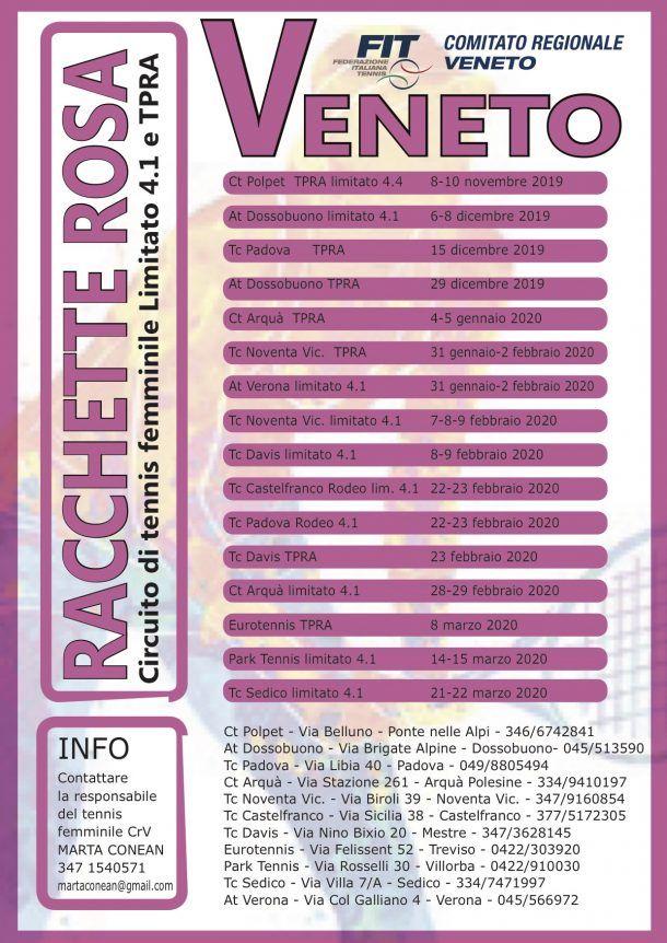 Circuito Racchette Rosa - Torneo Rodeo femminile